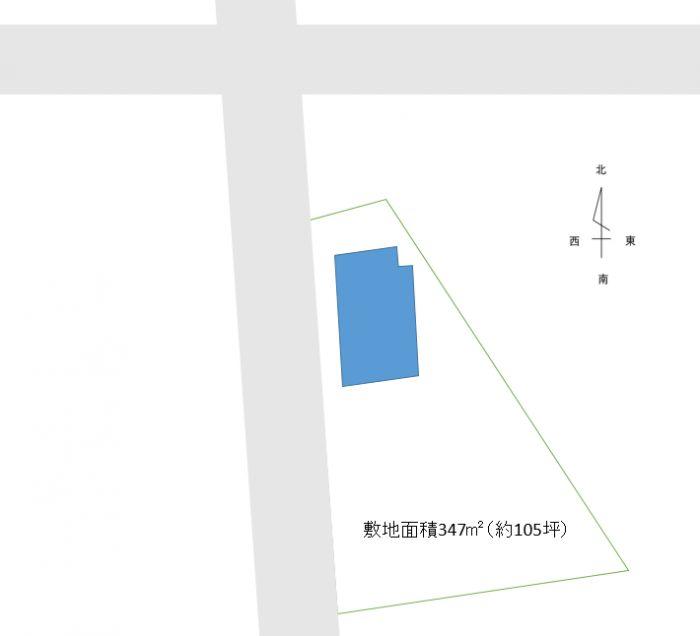 敷地面積105坪、木造平屋借家15坪