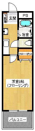 キッチン廊下部分も広めです。